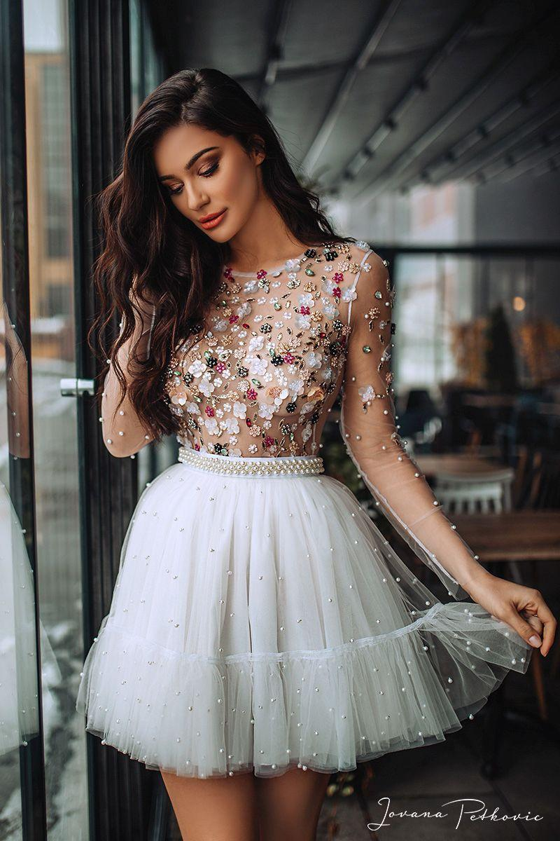 WHITE JASMINE FLOUNCE DRESS